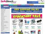 Free Shipping On Selected Items & Stocktake Sale - At Deals Direct!