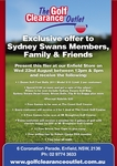 The Golf Clearance Outlet (Enfield NSW) - Various Specials 12-8pm 22nd Aug