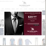 $20 off Minimum Spend of $50 at The Mens Shop