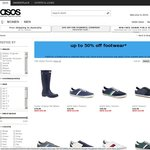 ASOS up to 50% off Footwear