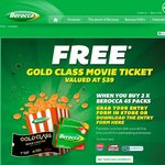 Free Gold Class Ticket When You Buy 2x45 Pack Berocca Effervescent Tablets for $35