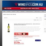 Winebros - Buy 6 Bottles of Selected Wines, Get 6 Bottles of Shiraz FREE from $29.94 + Delivery