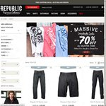 Up to 70% off Republic Clothing with Free Delivery Australia-Wide