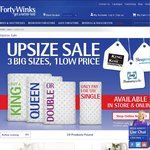 "Forty Winks ""UPSIZE SALE"" Only Pay for Single"