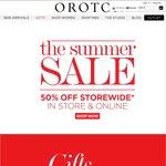 OROTON 50% off StoreWide*