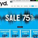 Yd. Up to 75% off Storewide in Store and Online