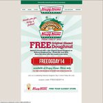 Free Original Glazed Doughnut from Krispy Kreme on Friday 6th June