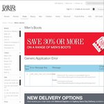 50% Discount on Boots Incl RM Williams at David Jones. Free Delivery above $50 or Free Pickup