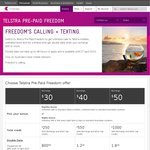 Telstra Pre-Paid Freedom - Double Data until 27 April 2015
