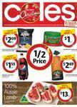 Coles 50% off Deals + Telstra PP Cruise, PP Elite or PP Roamer $10. Starts WED