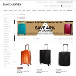 40% off Luggage @David Jones