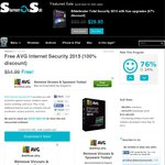 $0 AVG Internet Security 2015 (New Users Only) Was $55