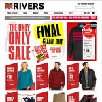 Rivers Clear out Sale W (Jackets from $18/Knitwear from $10) M (Jacket from $25/Knitwear from $12)