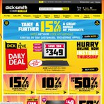 "Extra 15% off at Dick Smith - Code ""GET15OFF"""