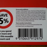 5% off Coupon for Coles Chatswood NSW Westfield