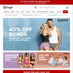 40% off Bonds Underwear & Socks for Whole Family + Extra 20% off if You Spend $99 @ Target