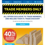 40% off All Architraves and Mouldings at Masters for Trade Card Holders