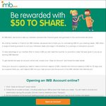 Deposit $25 for 30 Days and Get Another $25 Cash Bonus When Opening a Fee-Free Account with IMB