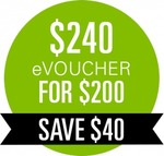 Woolworths Online eVouchers: $240 for $200 or $180 for $150 @ eBay Woolworths - Single Use/Transaction, Redeem by 31 July 2016