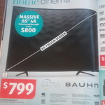 "Bauhn 65"" 4K LCD TV $799 at ALDI - It's Back 15/10 (Excludes WA/SA)"