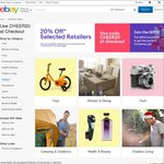20% off 105 Participating Stores @ eBay