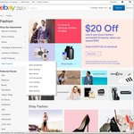 $20 off $100+ Spend on Fashion, Health & Beauty Categories on eBay