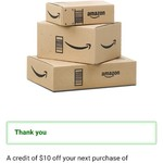 US $10 Credit Towards Next Purchase @ Amazon US (with MasterCard) - Use Mobile Browser