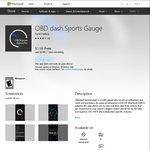 [Windows 10 App] OBD Dash.sportsgauge and csvAnalytics Free for The Black Friday Weekend