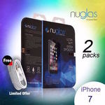 2x Nuglas iPhone 5/ 5S/ 5C/ SE/6/6+/ 7/7+Tempered Glass Screen Protector from $6.25 w/Free Lightning Cable @ Crazy Technology