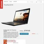 """ThinkPad E570 / Gen7 i7-7500U / 16GB RAM / 256GB SSD / 15.6"""" FHD / 2GB Nvidia / $1059 Shipped @ Lenovo"""