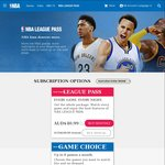 NBA League Pass Annual Subscription 50% off (AUD$124.99)