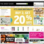 Body Shop Buy 2 Items Get 20% off (Online and In-Store)