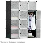 12 Cube Storage Cabinet with Hanging Bar Black -Delivered $50.90 @ Shoppingjoey - save ~30%