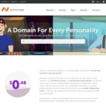 US $0.48 (AU ~$0.60) Domains with Free WhoisGuard @ Namecheap