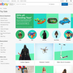 20% off Selected Sellers in Toys Category on eBay