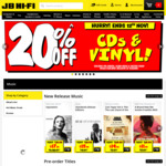 20% off CDs and Vinyl at JB Hi-Fi (Excludes Pre-Orders)