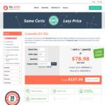 Comodo EV SSL Certificate at USD $79 (~AUD $102) Per Year @ Cheap SSL Shop