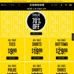 Up to 70% off Connor Menswear In store & Online