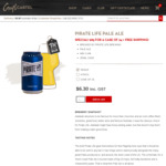 Pirate Life Pale Ale (24x 355ml Cans) $85 (Save $10) + Free Shipping @ CCLiquor