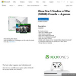 500GB Xbox One S Bundle + 4 Games - $289 Delivered @ Microsoft Store