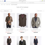 Marks and Spencer Suits & Formalwear Sale - Pure Wool Jackets for $127 (Normally $233)