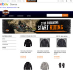 20% off + Further 5% off with PULL5 Code on Selected Styles @ Harley Davidson eBay