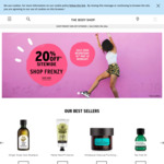 20% off Full-Priced Items Sitewide, Free Shipping Min Order $100 @ The Body Shop