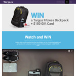 Win a Targus Work + Play Fitness Backpack & $150 Harvey Norman Gift Card from Targus