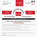 [NSW] Free Fratelli Fresh Keep Cups and $1 Coffee Refills for 30 Days @ Fratelli Fresh (Darling Harbour )