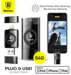 Baseus Obsidian X1 64GB USB U Disk iFlash Drive USB Flash For iPhone Computer 20% off $54.99 Delivered @ Mobile Mall on eBay