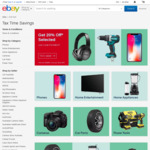 20% off 106 Stores @ eBay