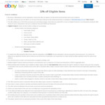 eBay 10% off Sitewide ($75 Min Spend)