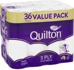 Quilton 3ply Toilet Tissue 36pk $14 @ Woolworths