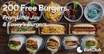 [VIC] 200 Free Easey's Burgers @ Little Jax (New Users of EatClub Only)